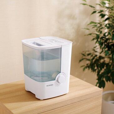 【送料無料】アイリスオーヤマ 加熱式加湿器 SHM-4LU ホワイト/グリーン[加湿器/かしつき/加湿機/加熱式/アロマ/デザイン加湿機/大容量]【RCP】 [KSTK][cpir]