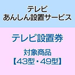 テレビあんしん設置サービス テレビ設置券 【対象商品:43型・49型】 【代引き不可】