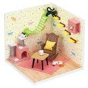 ナノルーム ねこカフェ セット NRB-006おもちゃ 玩具 ジオラマ 猫部屋 ドールハウス ミニチュア 手作り ハンドメイド 趣味ホビー カワダ 【TC】