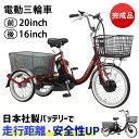 自転車 電動自転車 PELTECH(ペルテック) 電動アシスト三輪車 前輪20型
