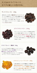 ドライフルーツ詰め合わせセット2種×200g、2種×100g【ゆうメール/送料無料】__レーズンクランベリープルーンマンゴー