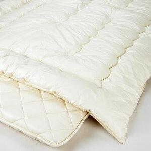 [選べる特典付]布団セットシングル日本製人気の無地タイプ羊毛混掛け敷き2点セット/布団セット[布団セット組布団セット