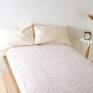 麻100%敷きパッドジュニア表生地中綿麻100%天然素材ロマンス小杉麻敷きパット敷パッドウォッシャブル丸洗いOKベッドパッドベッドパット兼用敷きパット