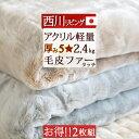 特別ポイント10倍 10/16 7:59迄 2枚まとめ買い 西川リビング 毛布 シングル アクリル毛布 数量限定 送料無料 ニューマイヤーアクリル毛布(寝具/ブランケット・もうふ)シングル