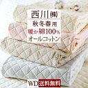 割引500円クーポン★敷きパッド ワイドダブル 西川 ふんわ...