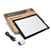AGPtek トレース台(A4) 白光6000K USB給電 コピー用紙や原稿用紙に向け 日本語取扱説明書付き