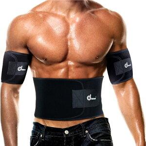 【1ベルト+2シェイパー】 男女兼用ダイエットベルト-- ODOLAND 「1ベルト+2シェイパー」腰用サポーター 調整可 滑り止めベルト 保温 発汗 体重減少 毒素排出 腰痛軽減 姿勢 ブラック