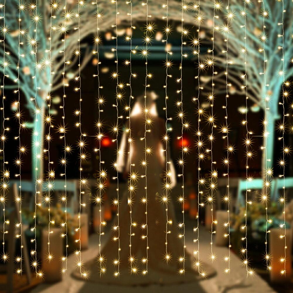 【改良版】AGPtEK 3MX3M/300LED 酒場 バー 雰囲気作り クリスマス、パーティー、アクアリウム、結婚式などイベント大活躍 防水国際基準防水IP44 カーテンライト LEDイルミネーションライト 8種類の点滅パターン コントローラ付き 日本語取扱書付き
