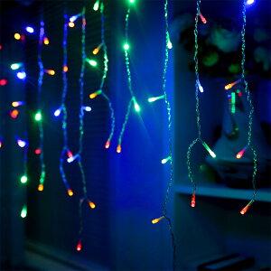 AGPtekLEDイルミネーションライト3MX3M/300LEDクリスマスパーティー、結婚式などイベント大活躍防水国際基準防水IP44カーテンライト8種類の点滅パターン複数連結可能コントローラ付き(日本語取扱書付き)色選択可