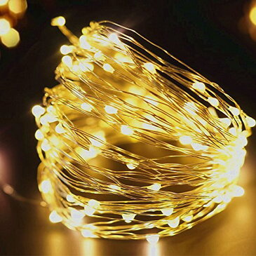 AGPtek LEDイルミネーション ライト ストリングライト カーテンライト 高輝度 全長20M 200LED IP65防水 8種類の点滅パターン DIYやすい クリスマス 結婚式 パーティデコレーション クリスマス電飾 室内飾り
