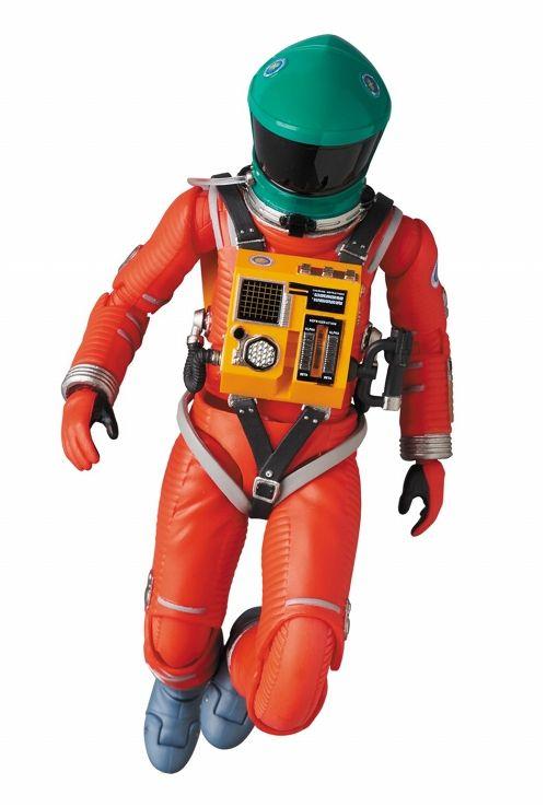 【メディコム・トイ】 【お取り寄せ品】マフェックス(MAFEX)/ 2001年宇宙の旅 2001: a sapce odyssey: スペーススーツ グリーンヘルメット&オレンジスーツ ver画像