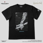 【予約商品】【TORCHTORCH】SEKIRO:SHADOWSDIETWICE×TORCHTORCH/Tシャツコレクション:忍義手黒Lサイズ