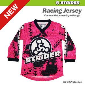 TEAM STRIDER チームストライダー モトクロスジャージ 《ピンク》 4T=100サイズ(身長約95〜105センチ、4歳児向け)