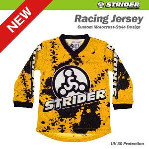 TEAM STRIDER チームストライダー モトクロスジャージ 《イエロー》 5T=110サイズ(身長約105〜115センチ、5歳児向け)