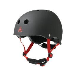 triple eight(トリプルエイト)ヘルメット【リルエイトユース:トドラー(46cm〜52cm)/ブラックラバー】 ストライダー 自転車 スケートボード 子供用 キッズ