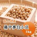小豆 白小豆 備中夢白小豆 岡山県産 1kg【令和1年産】