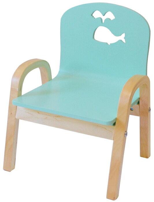 わけあり MAMENCHI 木製キッズチェア 組立済 クジラ スカイブルー スタッキングチェア 木製イス 幼児イス 子ども用椅子 子ども用イス 木製イス 子供椅子 ベビーチェア