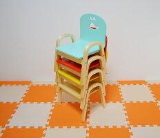 わけありMAMENCHI木製キッズチェア組立済クジラスカイブルースタッキングチェア木製イス幼児イス子ども用椅子子ども用イス木製イス子供椅子ベビーチェア