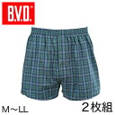 BVD トランクス メンズ 下着 B.V.D.NEW STANDARD 2枚組 M〜LL (bvd M L LL 大きい インナー パンツ セット 下着 肌着 前開き アンダーウェア チェック柄 M L LL)