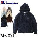 Champion ジップフードフリースジャケット M〜XL (メンズ レディース パーカー ふわふわ もこもこ)