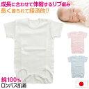 ロンパース 肌着 新生児 乳児 日本製 綿100% 半袖 60-75cm〜90-100cm (綿100% 乳児 コットン 出産準備 出産祝い 下着 ギフト プレゼント 60cm 70cm 80cm)