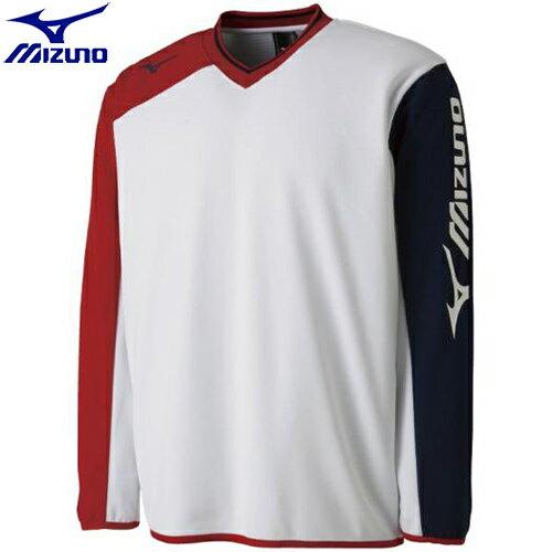 テニスウエア スウェットスーツ ミズノ MIZUNO スウェットシャツ(中厚)[ユニセックス](01)ホワイト 62JC800401