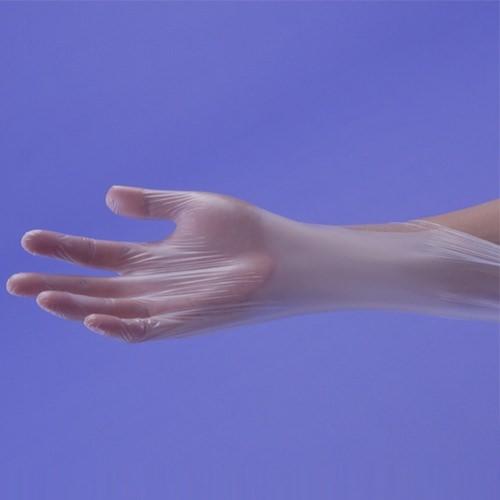 使い捨て手袋(使い切り手袋)SHOWAショーワグローブシルキーポリプロ手袋100枚入D0300ポリエチレン・ポリプロピレン粉なし