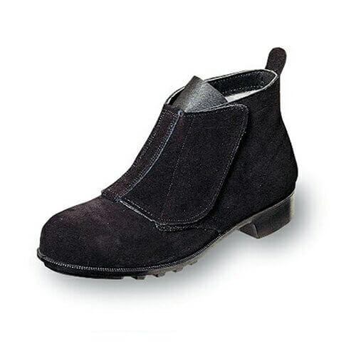 安全靴 短靴 エンゼル Angel 溶接用中編マジック B212マジック 溶接用安全靴 大きいサイズ ビッグサイズ メンズ 男性用 ベーシック(黒メイン革) マジックテープ ベルクロ
