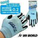 作業手袋 ゴム手袋 耐切創手袋 ユニワールド ワンダーグリップ カットアラミド WONDER GRIP Cut Aramid 1双 WG757 ニトリルゴム 耐摩擦性 耐油性