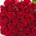本数を選べる赤バラの花束 赤色系 約50cm 誕生日やお祝い...