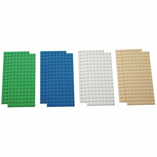 最安値に挑戦 レゴ基礎板バラエティセット9388/基本/芝/海/砂地/コンクリート/おもちゃ/ブロック/エデュケーション/知育