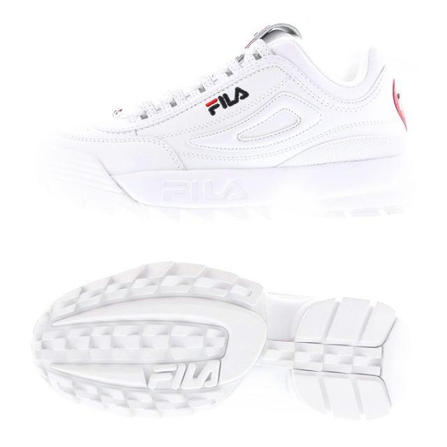 楽天スーパーセール特別価格!!SALE!! 【レディース】 FILA [フィラ] DISRUPTOR 2 HEART [WHITE] ディスラプター2ハート スニーカー (ホワイト) F0500-0113 AJS画像