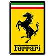 【再入荷】【Ferrari】フェラーリ メタルサインカヴァッリーノ・ランパンテ【アメリカ製(made in USA)】