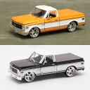 【シボレー】【ミニカー】シボレー シャイアン ピックアップトラック 1972 1/24スケール オレンジ×ホワイト ブラック×ホワイト【Chevy Cheyenne アメ車】