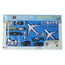 【ミニカー】エアフォース・ワン エアポート 22個セット【おもちゃ 飛行機ヘリコプター 白バイ パトカー 標識】