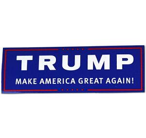 [ステッカー シール]トランプ大統領 デカール 約7.5cm×23cm ■ Donald Trump カーステッカー サイン アメリカ雑貨