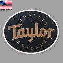 ステッカー Taylor テイラー ギターズ ロゴ 約6cm...