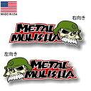 ステッカー METAL MULISHA メタル・マリーシャ ロゴ 約7.5cm×...
