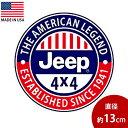 ステッカー Jeep 4x4 THE AMERICAN LEGEND ... ジープ 円形 ...