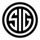 【ステッカー】【シグザウエル】SIG SAUER ロゴ 円形 デカー...