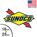 ステッカー SUNOCO スノコ エンジンオイル ロゴ 縦16cm×横25c...