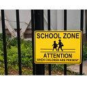 【プラスチックサイン】SCHOOL ZONE ATTENTION(スク...