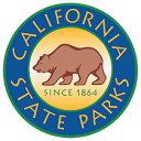 【ステッカー シール】California state parks アメリカ合衆国 カリフォルニア州立公園 マーク デカール 直径約10cm【アメリカ くま グリズリー 高品質 雑貨 サイン カーステッカー】
