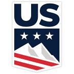 【ステッカー シール】US アメリカ合衆国 スキー・スノーボードチーム デカール 約12.5cm×8.5cm【ウィンタースポーツ 雑貨 サイン カーステッカー】