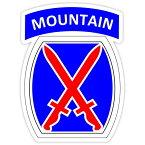 【ステッカー シール】MOUNTAIN アメリカ陸軍 第10山岳師団 デカール 約12.5cm×9.5cm【ミリタリー US army 高品質 雑貨 サイン カーステッカー】