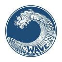 【ステッカー シール】WAVE SURFBOARD 波乗り サーフィン ハワイ デカール 直径約12.5cm 【マリンスポーツ バリ島 サーフボード アメリカ雑貨 小物 シール】