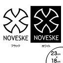 ノベスキー ステッカー NOVESKE ロゴ 切抜き デカール 23cm×1...