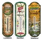 【ブリキ 温度計】 LUNKERS Best Bait Weekend サーモメーター【BASS バス 釣り フィッシング 魚 雑貨 インテリア】