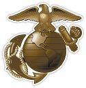 【ステッカー シール】 アメリカ海兵隊 ダイカット ロゴ デカ...
