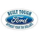 ステッカー フォード BUILT TOUGH FORD ロゴ デカール 約7cm×...